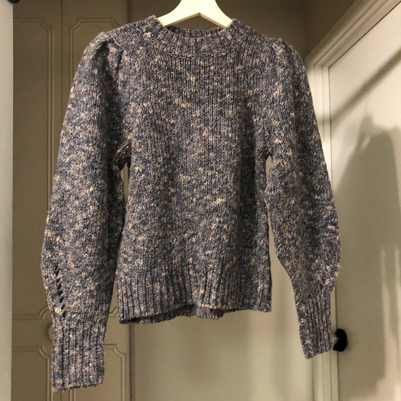 Puffed Sleeve Wool Sweater
